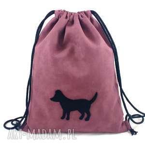 Backpack nr 4 - ,plecaczek,zamsz,pies,