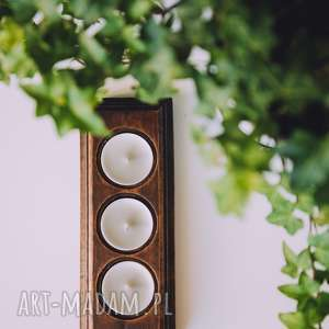 świeczniki drewniany świecznik rustykalny, drewniany, rustic