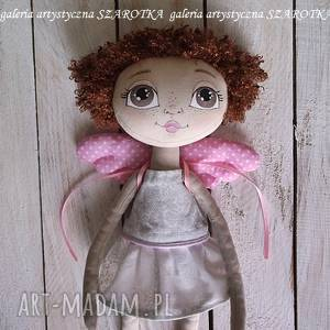 dekoracje aniołek lalka - dekoracja tekstylna, ooak one of a kind