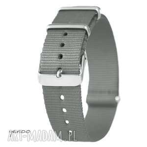 Prezent Pasek do zegarka - nato, nylonowy, szary, pasek, zegarek, nylonowy