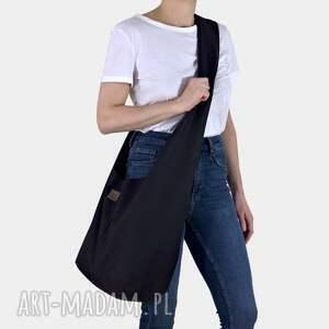 czarna torba hobo w stylu boho / long boogi bag - do noszenia przez ramię