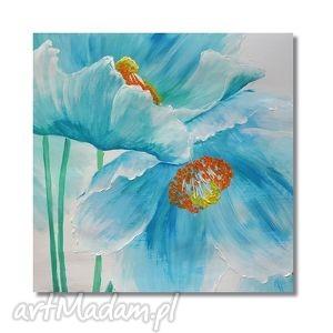 maki, nowoczesny obraz ręcznie malowany, kwiaty, obraz, ręcznie