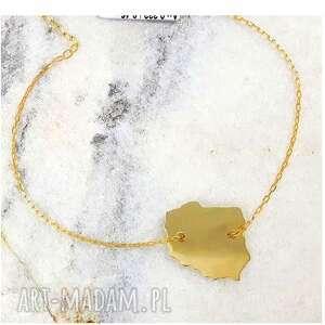 złota bransoletka w kształcie polski, bransoletka, złoto, polska