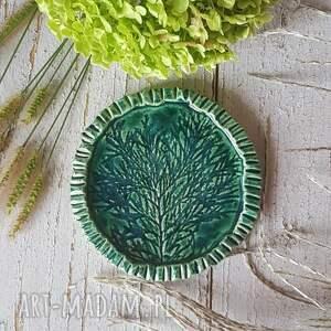 mała podstawka ceramiczna, patera seria natura, ceramiczna