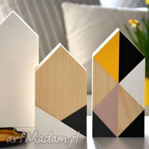 dekoracje domki drewniane, domki, domek, drewniany, drewna, geometryczne