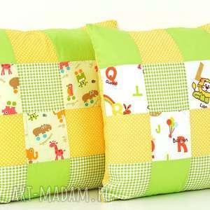 komplet poszewek na poduszkę 40x40 patchwork - bawełna, poduszka, oryginalna