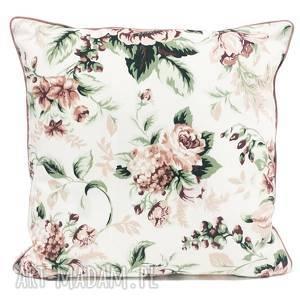 poduszka gypsy roses - pink 50x50cm od majunto, w róże, różana