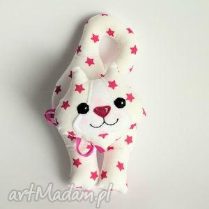 kotek klamkowy w różowe gwiazdki - kot, kotek, klamkowy, dziewczynka, urodziny