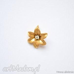 wisiorek - niezapominajka i pozłocona, biżuteria, srebro, wisiorki