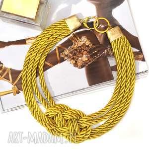 Naszyjnik kolia OH MY GOLD!, złoty, pleciony, naszyjnik, kolia, sznur, elegancki