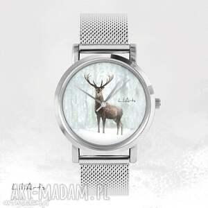 Prezent Zegarek, bransoletka - Jeleń 3 metalowy, zegarek, bransoletka, metalowa