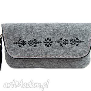 handmade kopertówka filcowa