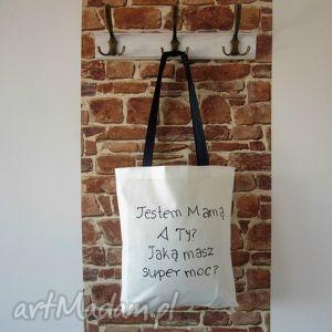 bawełniana ekotorba z ręcznie wykonanym rysunkiem/napisem, bawełniana, eko-torba, eko