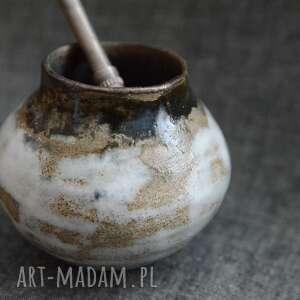 Mini matero ceramika ziemia zu wabi sabi, yerba mate, małe