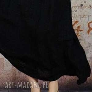 czarna etniczna sukienka z koralikami, sukienka, koraliki, ludowa, etno