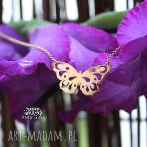 butterfly in gold, motyl, zawieszka, pozłacany, wisiorek, aniagrys, gwiazdoo