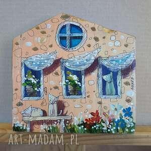 "Deska ""koci dom -8"" dekoracje marina czajkowska domek, kotki,"