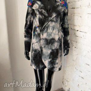folk design- płaszcz kolekcja rock - folk, design, płacz, ćwieki, unikat