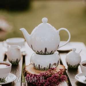 kubki zestaw porcelany do kawy i herbaty kwitnąca łąka, porcelanowa zastawa