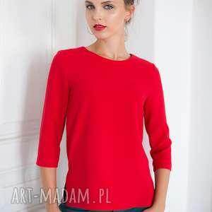 hand-made bluzki bluzka sangria czerwona