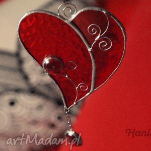 Serce witrażowe floral zawieszka witraże hanielgallery serce