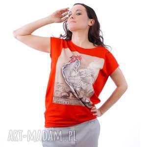 Bluzka z plakatem, bluzka, sztuka, kolorowe, plakat, artystyczne, bawełniane