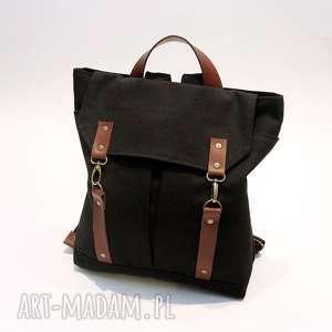 plecak czarny, plecal, płócienny, karabinki, święta prezent