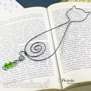 handmade zakładki kot wiktor - zakładka do książki