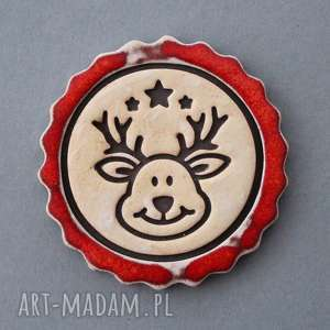 reniferek-magnes ceramiczny, święta, mikołaj, lodówka, on, prezent, zima
