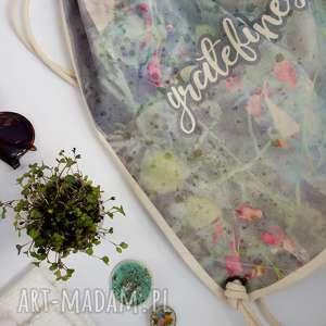 hand-made plecaki gratefulness plecak / worek / torba - płócienna