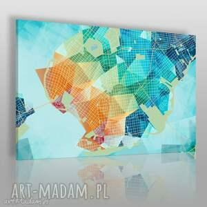 obraz na płótnie - ksztaŁty siatka - 120x80 cm 44201 - siatka, sieć