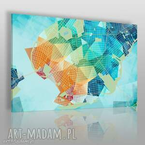 obrazy obraz na płótnie - kształty siatka - 120x80 cm (44201)
