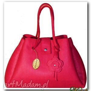 do ręki nowos elegancka, gustowna torba różowa, torba, torebki, hanmade, filc