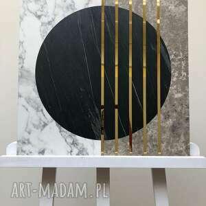 obraz calacatta beton złoto 50x50cm iii, dekoracja, panel, obraz, beton