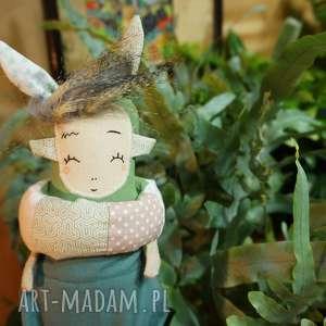 monsterówna alba - lalka z tkanin handmade, przytulanka, prezent świąteczny