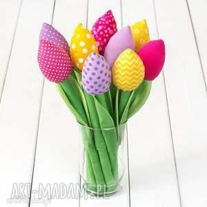 Prezent TULIPANY kolorowy bawełniany bukiet, kwiaty, łąka, prezent, tulipany