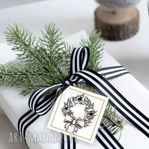 handmade pomysły na upominki świąteczne bileciki prezenty - 6 szt