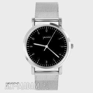 Prezent Zegarek, bransoletka - Simple Elegance, czarny, zegarek, bransoleta, metalowa