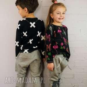 ubranka grube spodnie baggy, spodnie, grube, dziecko, wiosna, dzianina