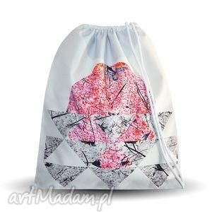 plecak zima, torba, plecak, worek, symetria, biały