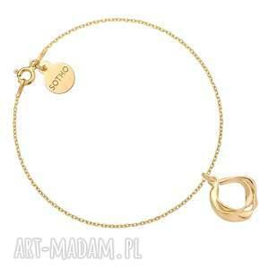 sotho złota bransoletka z ozdobną zawieszką - złote