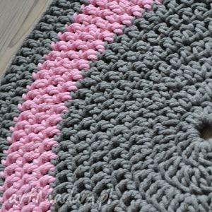 dywan pink grey 135cm zamówienie dla p renaty, dywan