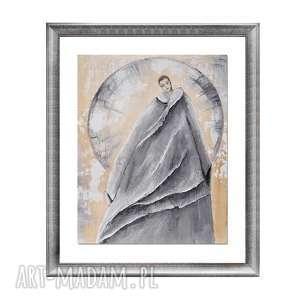 amadi, obraz ręcznie malowany, obraz, postać, ręcznie, salon