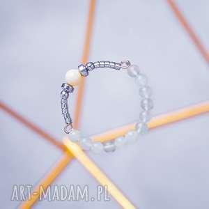 Whw high ring - light cloud w hand works pierścionek, mokait