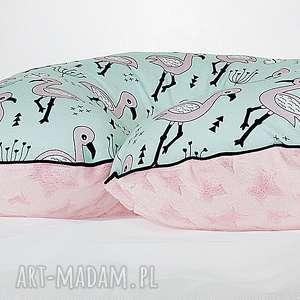poszewka na poduszkę rogal boppy flamingi, poduszka, poszewka, rogal, boppy, flamingi