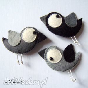 Three little birds: - przypinki broszki polly27 broszki, ptaszki