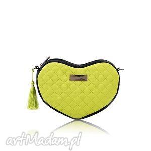 torebka lovka 113, pikowana, serce, mini, elegancka oryginalny prezent