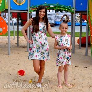 Komplet sukienek na lato mama i córka sukienki mrugala kwiaty