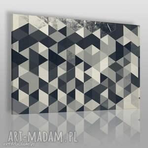 obraz na płótnie - wzór trójkąty 120x80 cm 22902, trójkąty, geometryczny