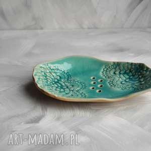 Mydelniczka z koronką ceramika tyka ceramika, mydelniczka, mydło